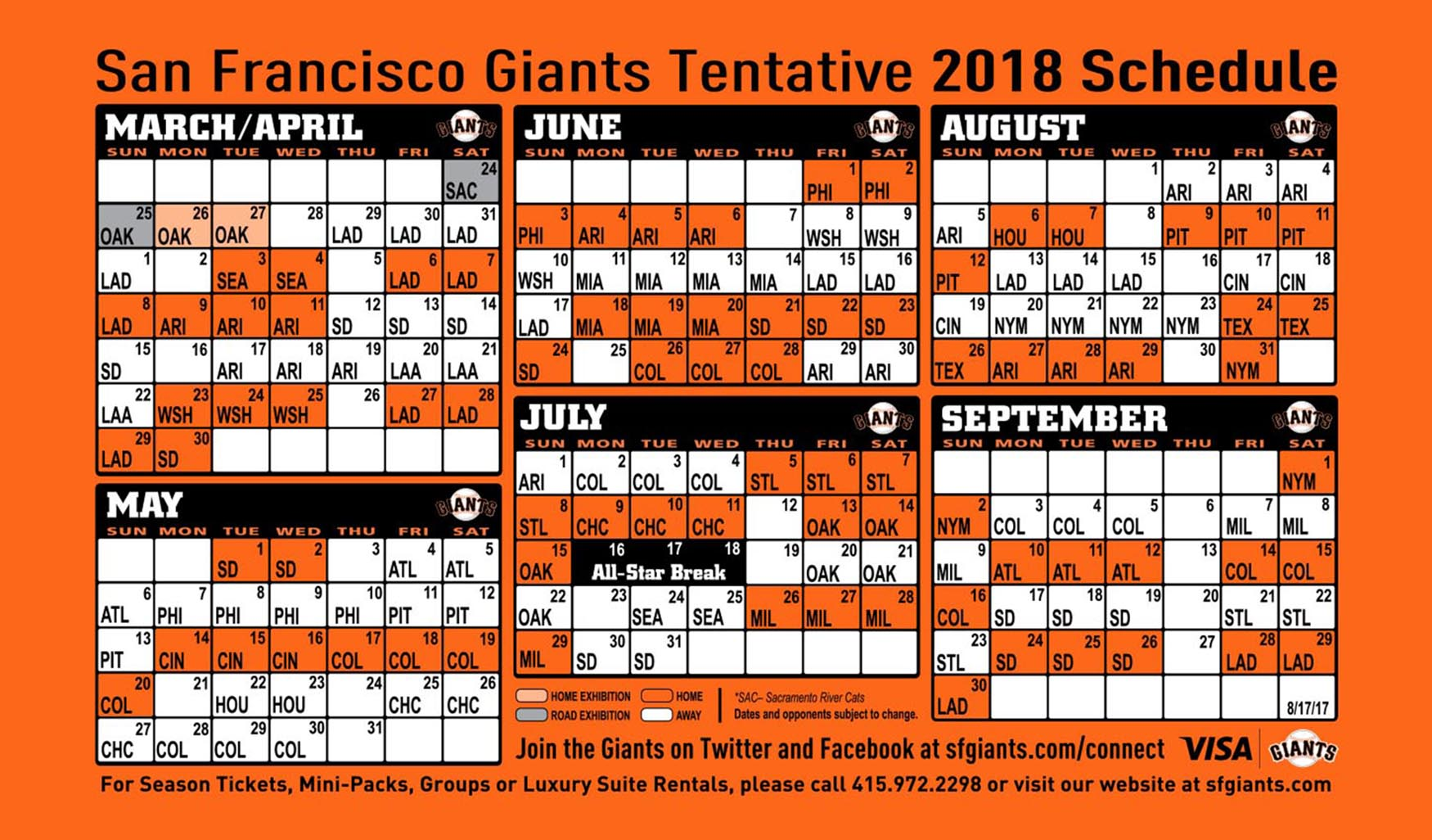 sf giants spring training schedule 2020