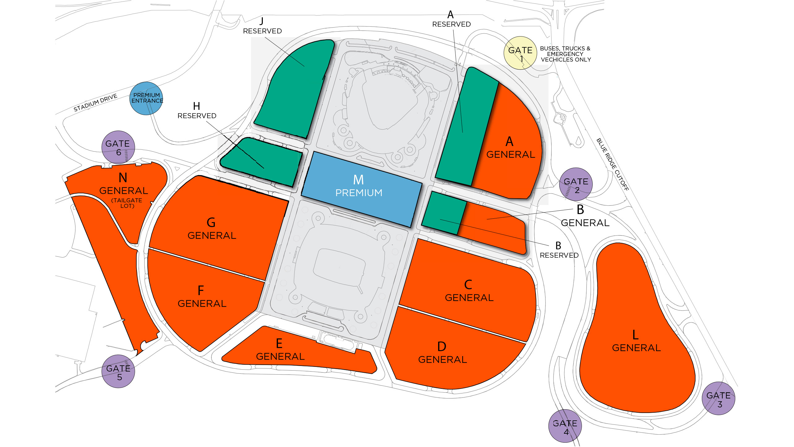 Season Ticket Member Parking Map | Kansas City Royals