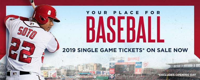 Nationals  2019 single-game tickets on sale now f614a198c