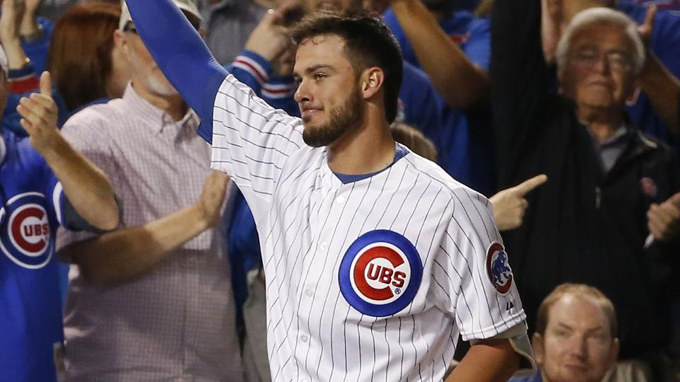 Bryant sets Cubs' single-season rookie HR record