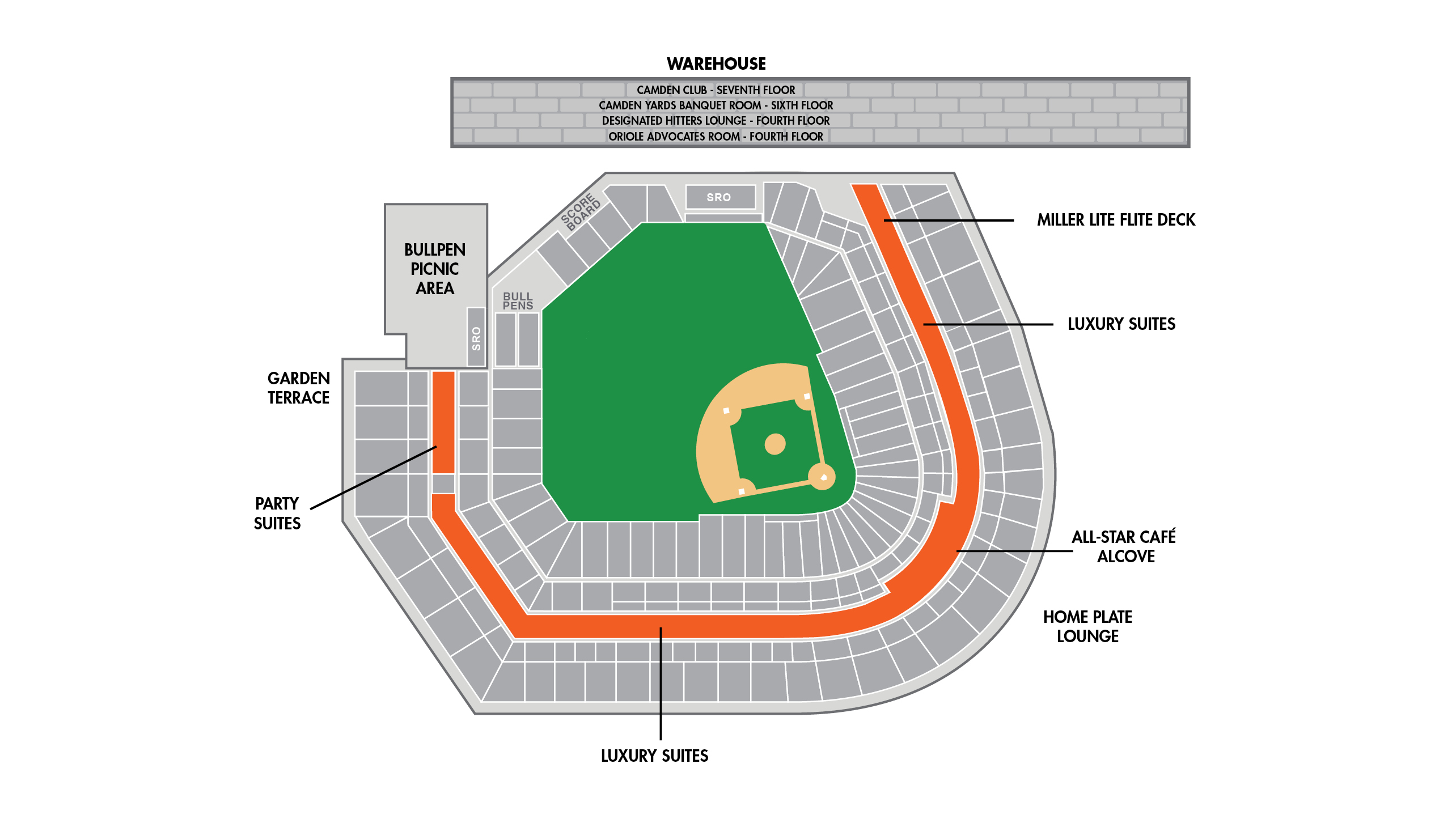 Camden Yards Seating Chart Suites Target Field Baseball