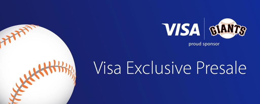 3dba639cd Use your Visa® for an exclusive opportunity to purchase single game tickets  to most 2019 Regular Season Giants home games and our exclusive Holiday  Pack ...