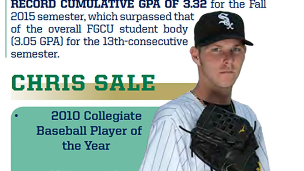 size 40 75c99 1cdeb Florida Gulf Coast University Eagles features Chris Sale in ...