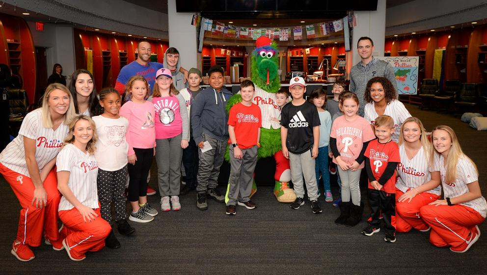 e11d73d27478c1 Phillies host local kids at clubhouse sleepover event | MLB.com