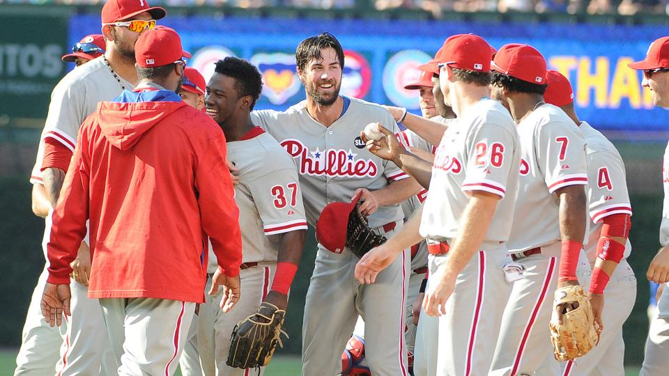 Cole Hamels throws no-hitter against Cubs  7a5555a39