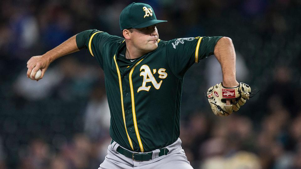 A S Pitcher Andrew Triggs Off To Great Start Oakland Athletics