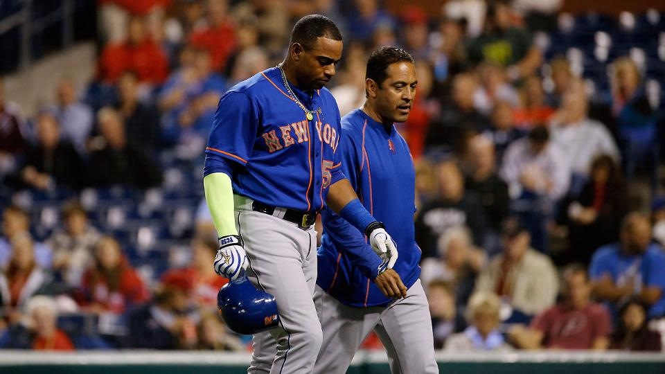 Cespedes HBP on left hand; X-rays negative