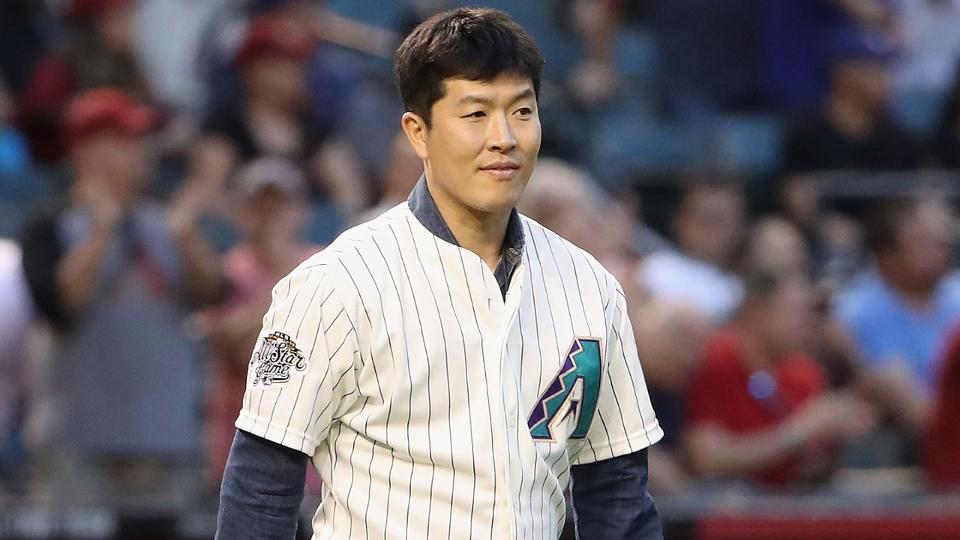 Byung Hyun Kim Celebrates D Backs Anniversary Mlb
