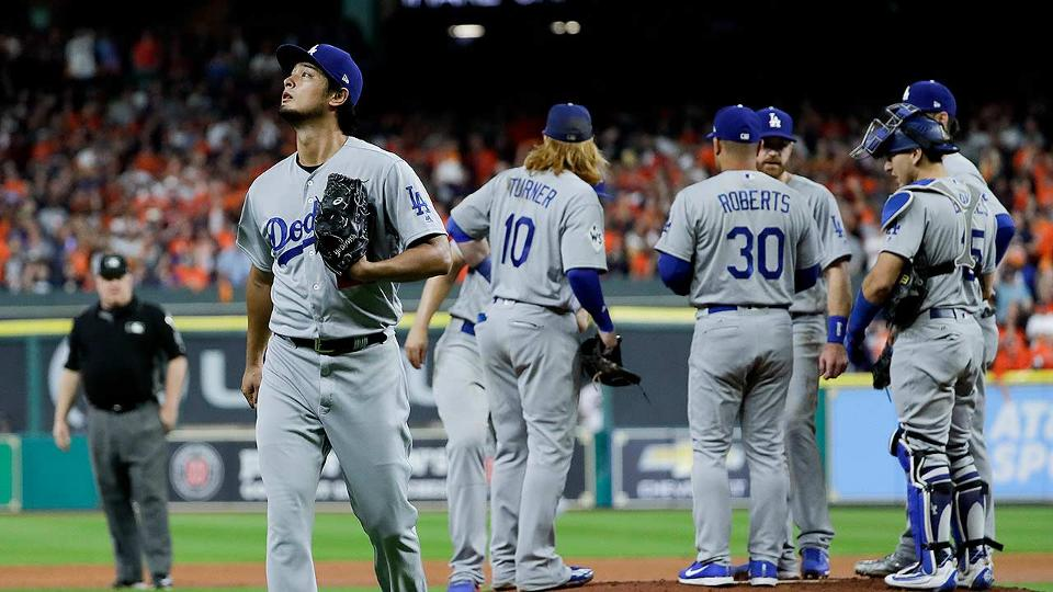 Dodgers\' Yu Darvish exits Game 3 in 2nd inning | Los Angeles Dodgers