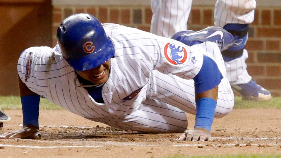 Cubs shortstop Starlin Castro sprains left ankle on slide into home | MLB.com