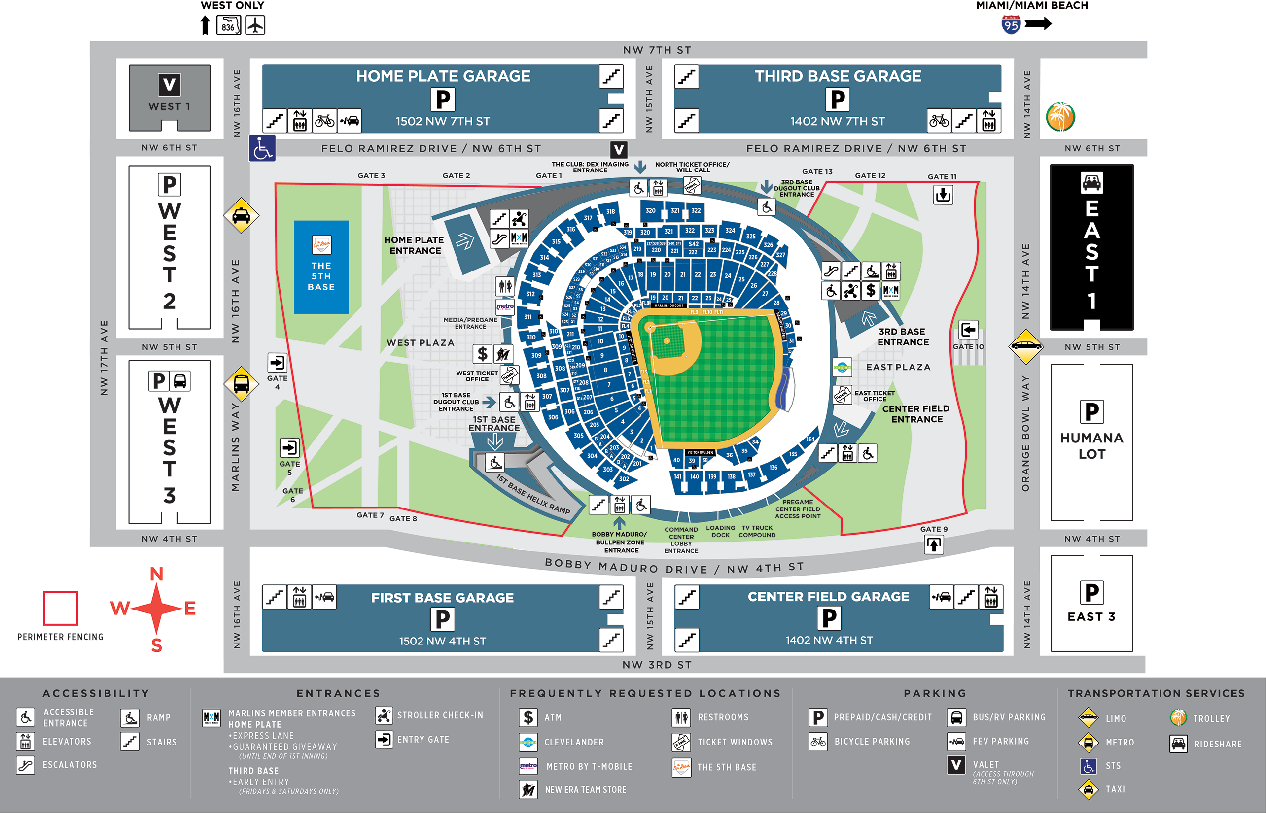 Marlins Park Parking | Miami Marlins on