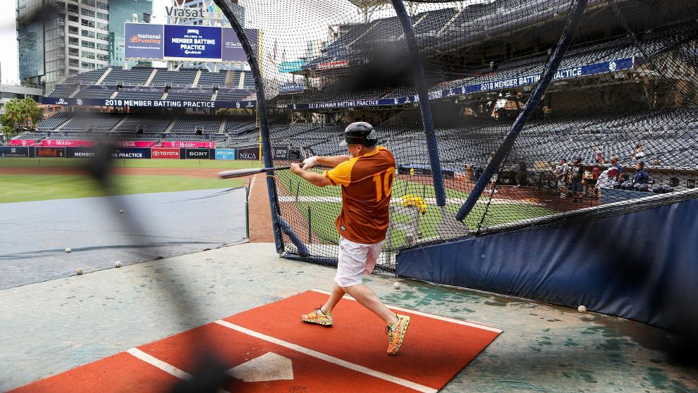531c3c0a1ab Batter up! Platinum Padres Members and their guest(s) are invited down to  participate in a VIP batting practice experience. Start thinking of your  walkup ...