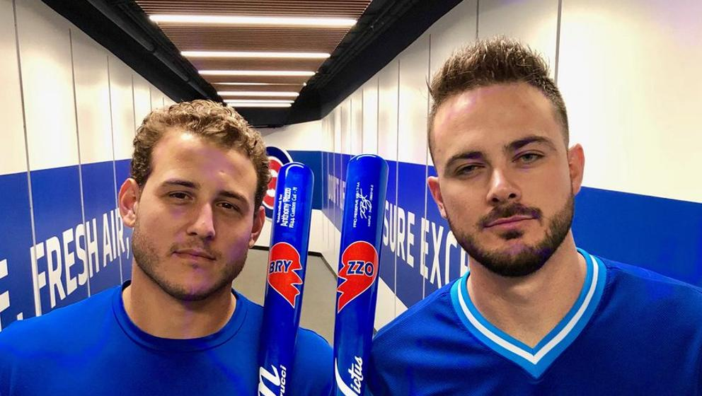 new product 0668e 026b3 Kris Bryant and Anthony Rizzo's Players' Weekends bats | MLB.com