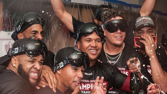 Indians celebrate clinch with postgame party   MLB.com