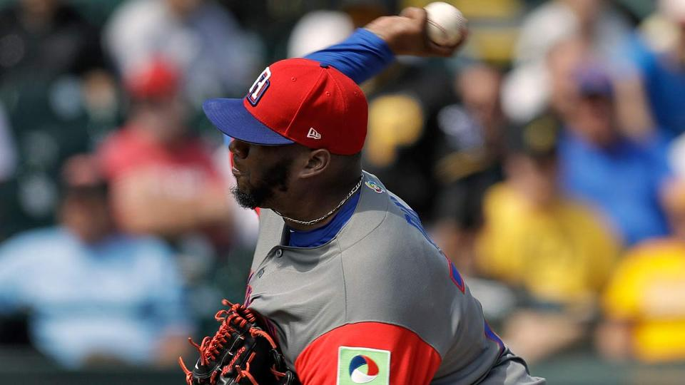 88c69bff7635 Jumbo Diaz joins Rays in Spring Training camp