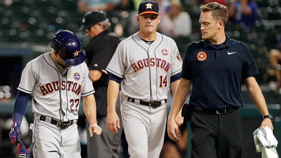 Astros' Jose Altuve exits after hit by pitch   MLB.com