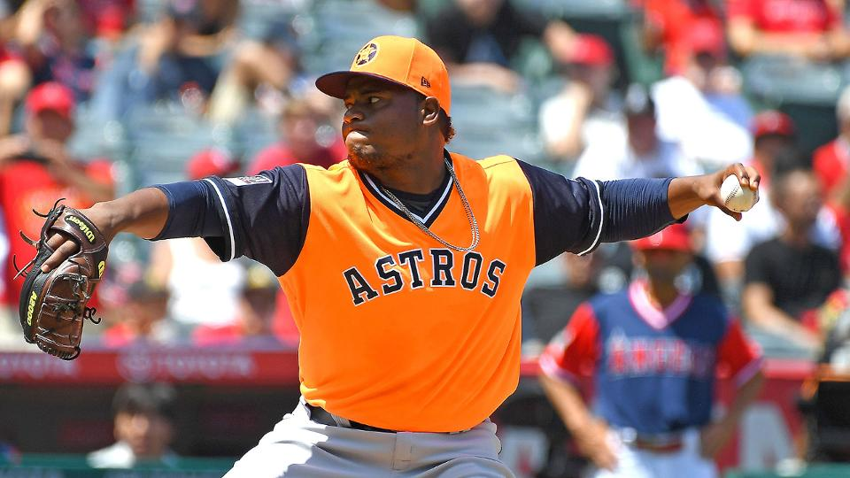 more photos b39da e26d1 Framber Valdez wins first MLB start for Astros   Houston Astros