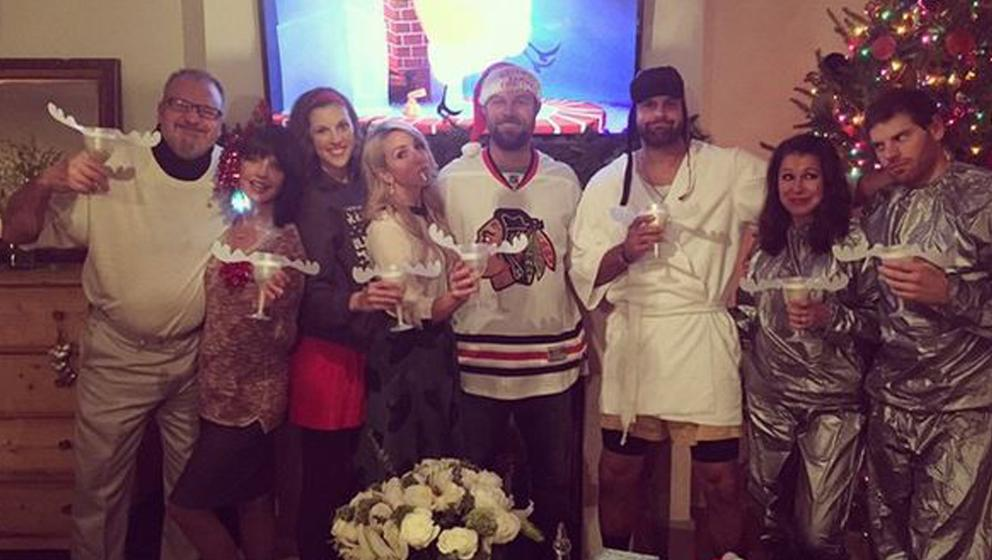 John And Jordan Danks Celebrate The Holidays With A Griswold Family