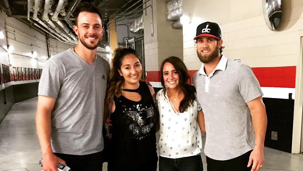Bryce Harper Wedding.Bryce Harper And Kris Bryant Pose For Photo Together Mlb Com