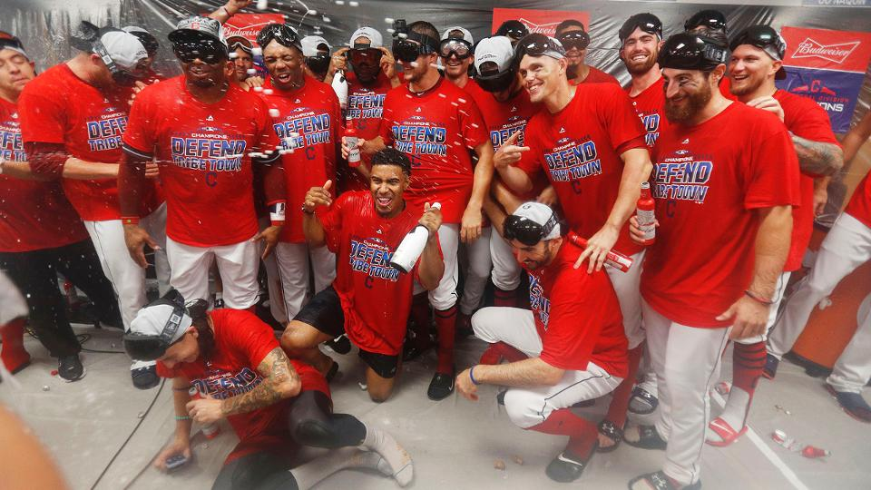 3b9aa78e345 Indians rout Tigers to clinch AL Central title