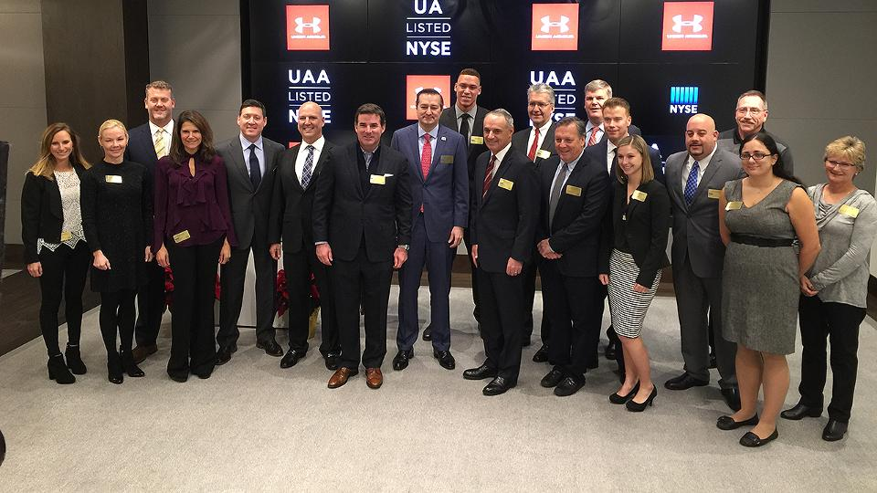 Mlb Under Armour Ring Opening Bell At Nyse Mlb