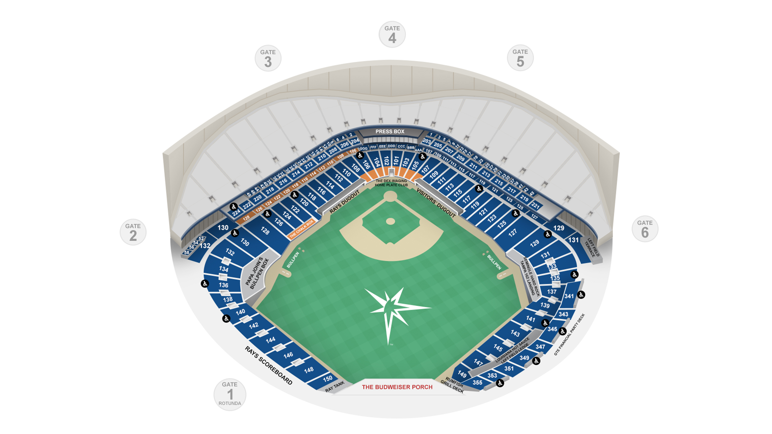 Tropicana Field Seating Map Tampa Bay Rays Tampa Bay Rays Tampa Bay Tampa