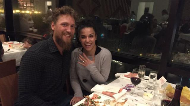 Video Hunter Pence Proposes To His Girlfriend Mlbcom