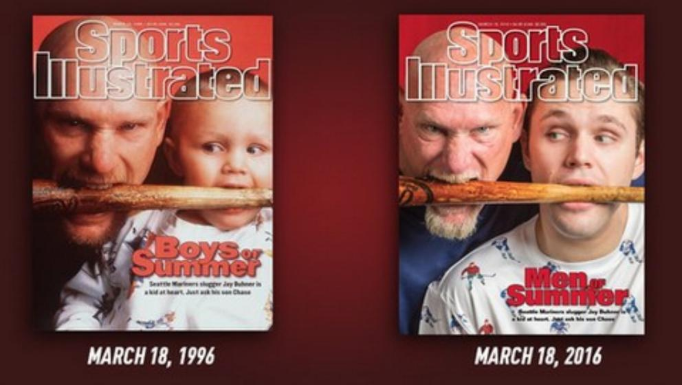 7669be78d8e Jay Buhner recreates Sports Illustrated cover with son