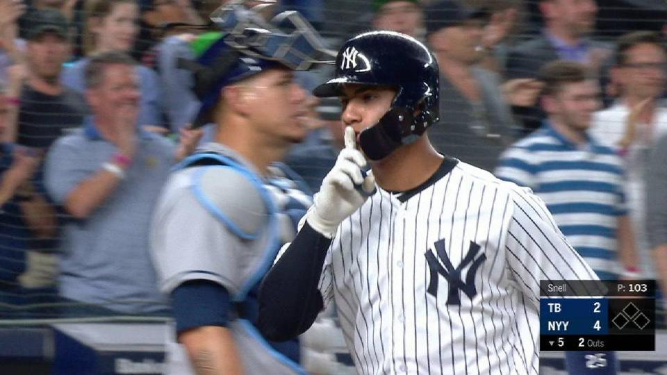 Gleyber continues power surge with 13th HR