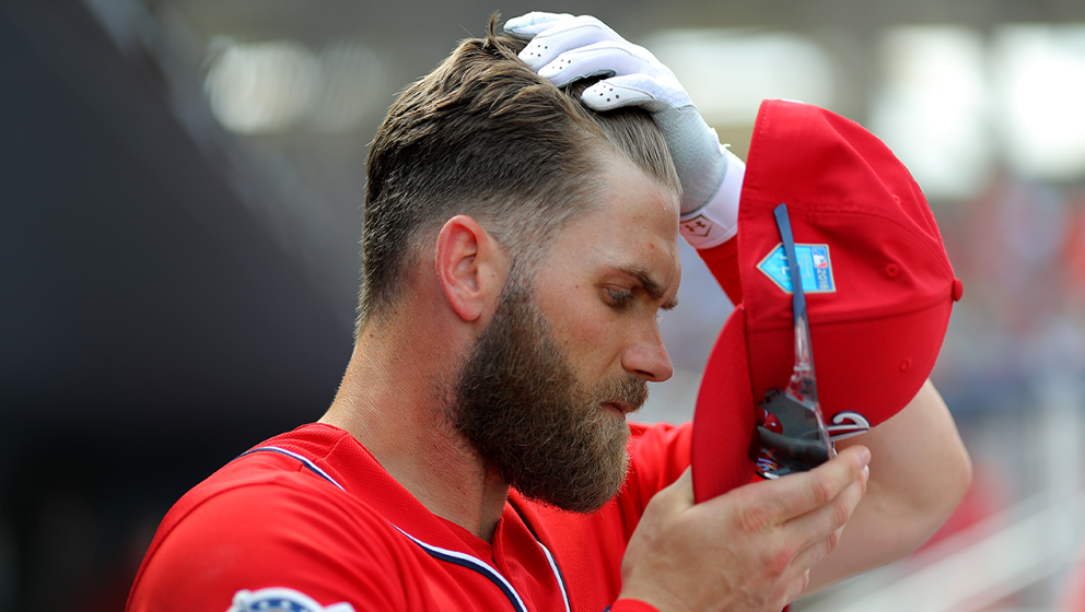 Bryce Harpers Hair Is So Fabulous That He Uses Two Hair Dryers To