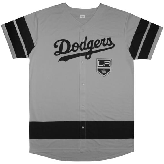 c2922a87 The Dodgers are giving away these incredible Kings mashup jerseys on Kings  night