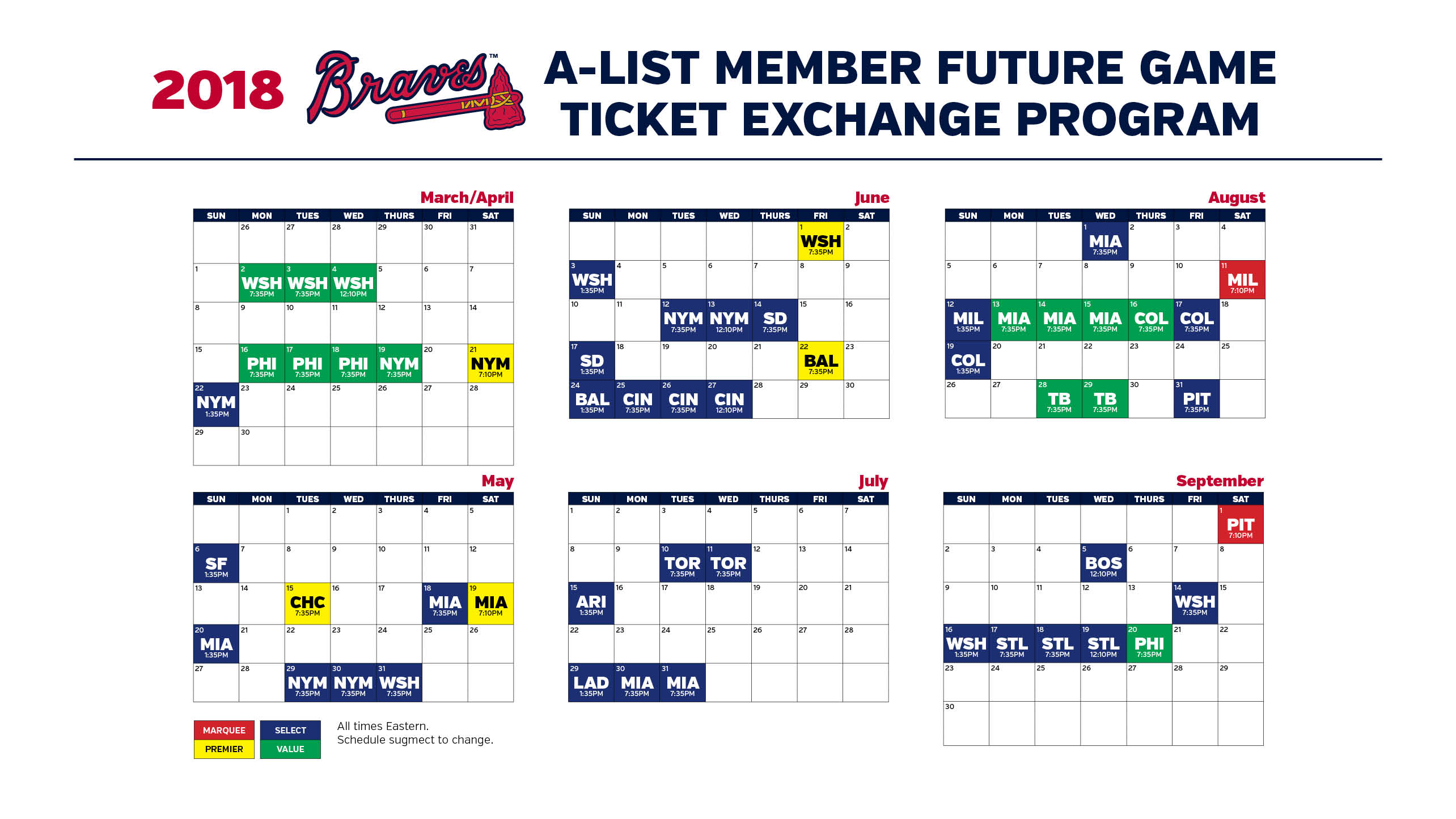 ticket exchange program | a-list member | atlanta braves