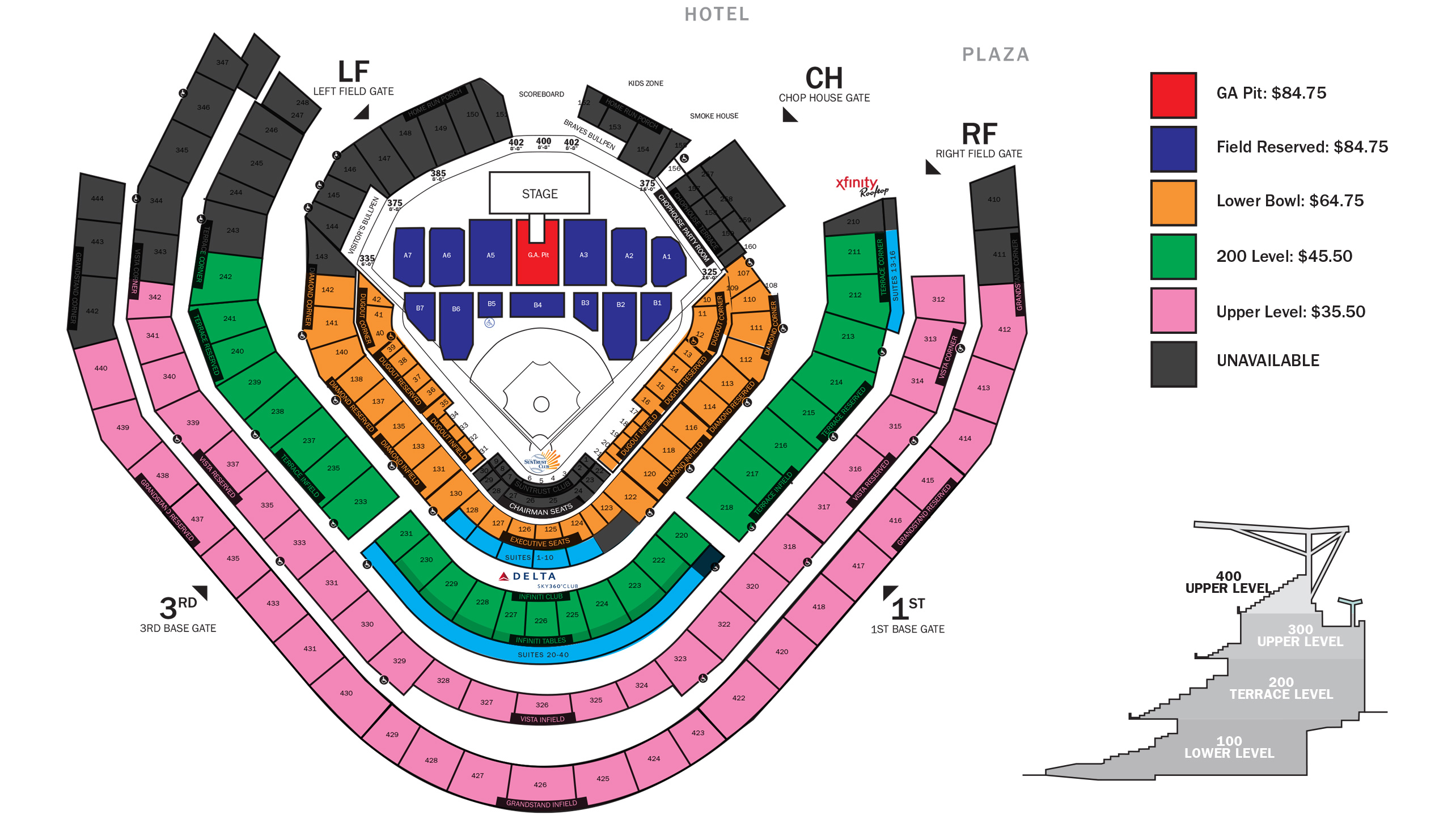 Seating Chart Inside Braves Tickets