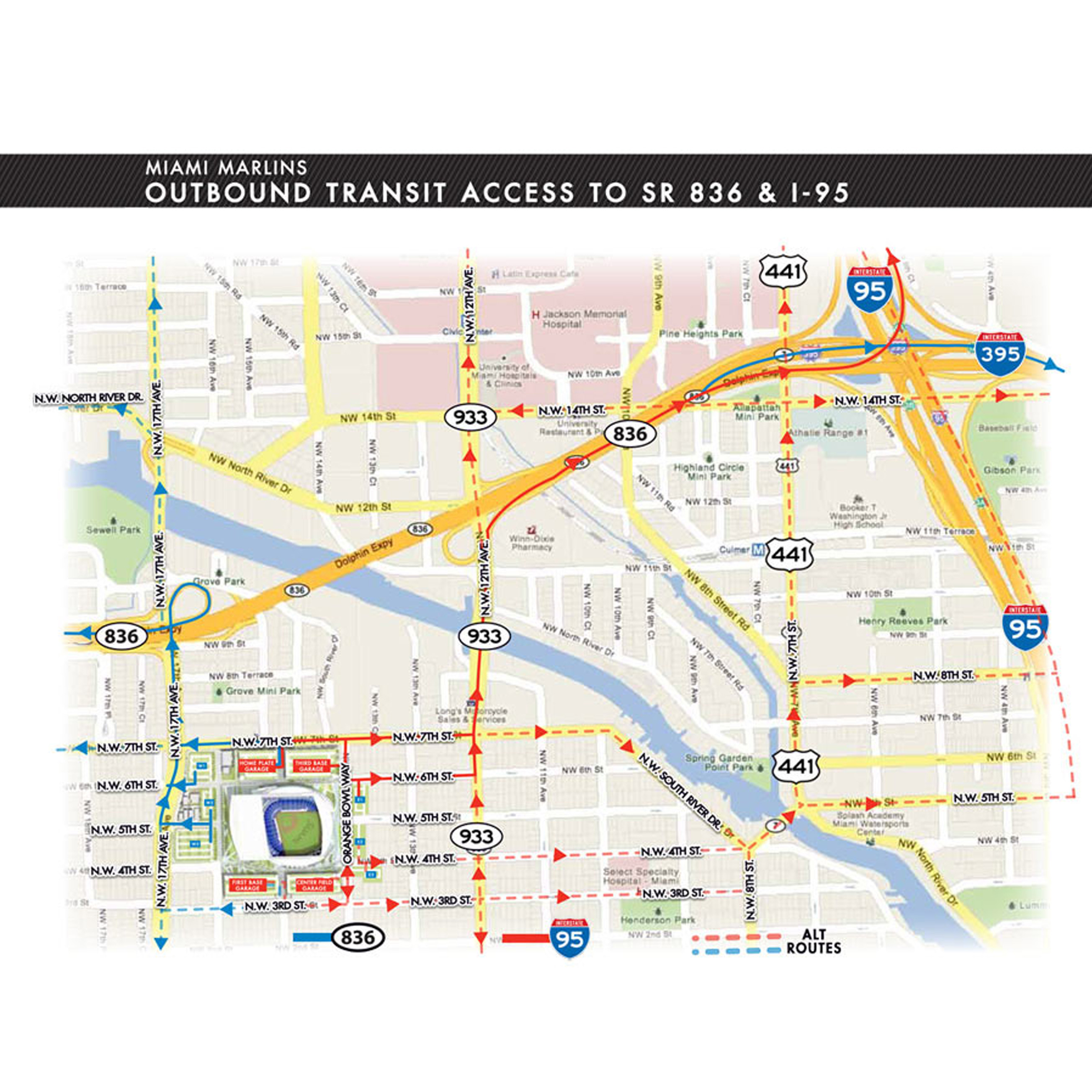 Driving Directions to Marlins Park | Miami Marlins