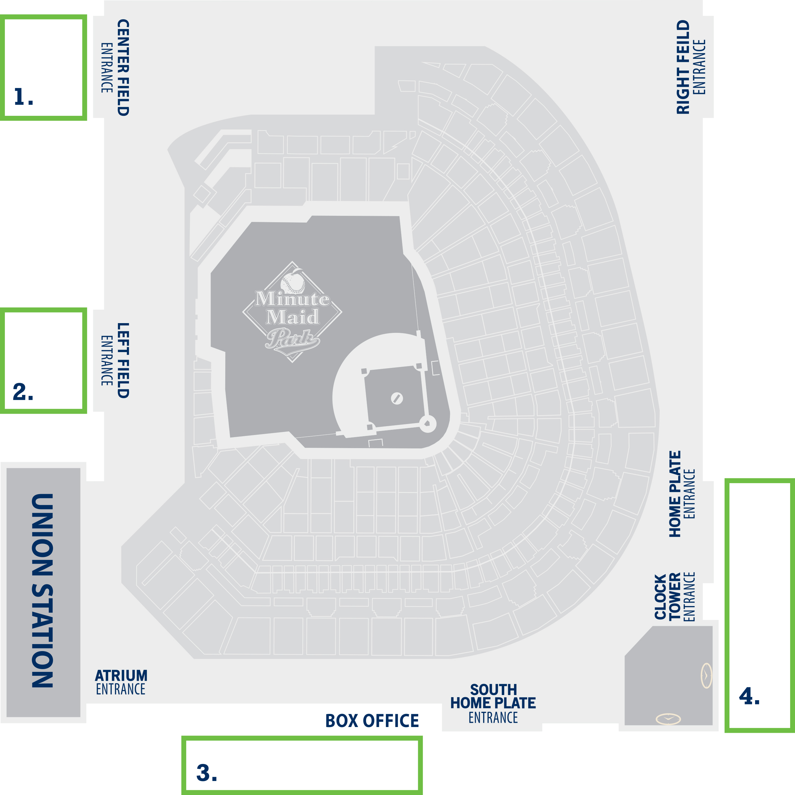 Map for Minute Maid Park Brick Locator