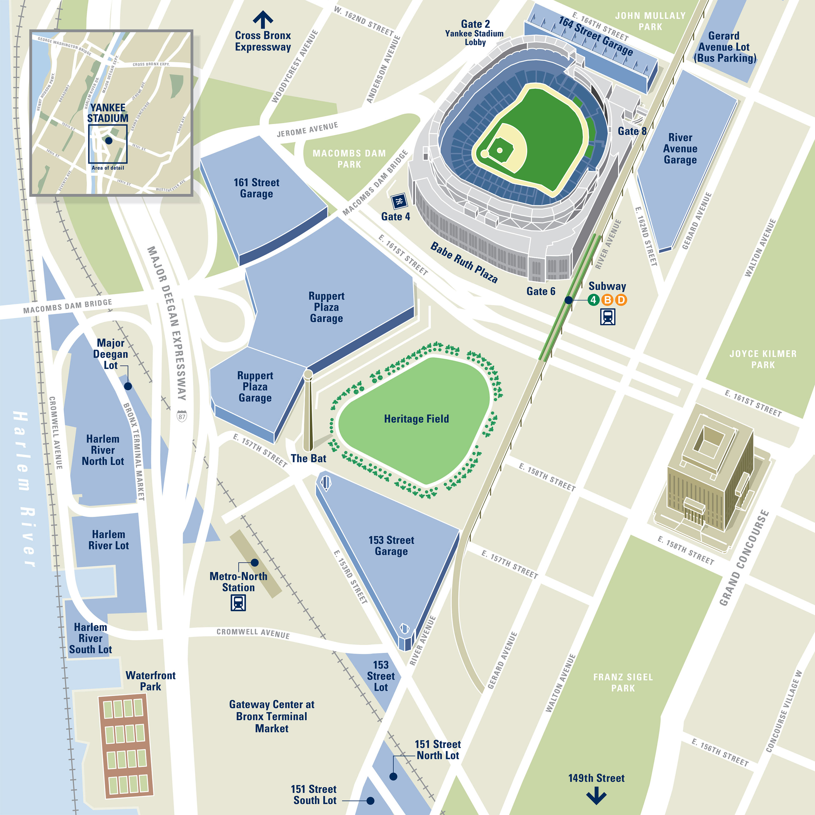 Yankee Stadium Directions and Parking Info | New York Yankees on nrg stadium street map, central park street map, minute maid park street map, manhattan street map, bank of america stadium street map, seattle street map, new york university location map, busch stadium street map, harlem new york city map, west hartford street map, union square street map, comerica park street map, angel stadium street map, lucas oil stadium street map, fenway park street map, alamodome street map, empire state building street map, new york street map, wrigley field street map, philadelphia street map,