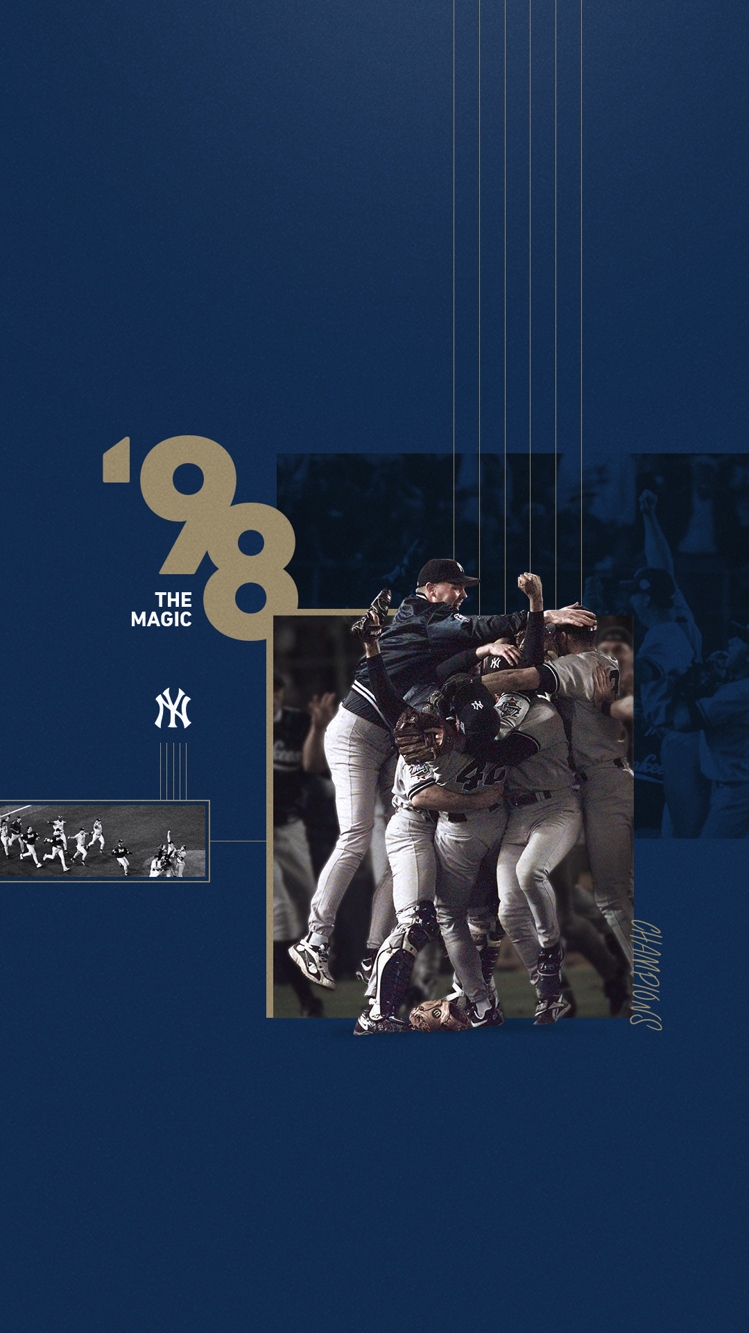 1998 World Series Champions Mobile Wallpapers New York Yankees