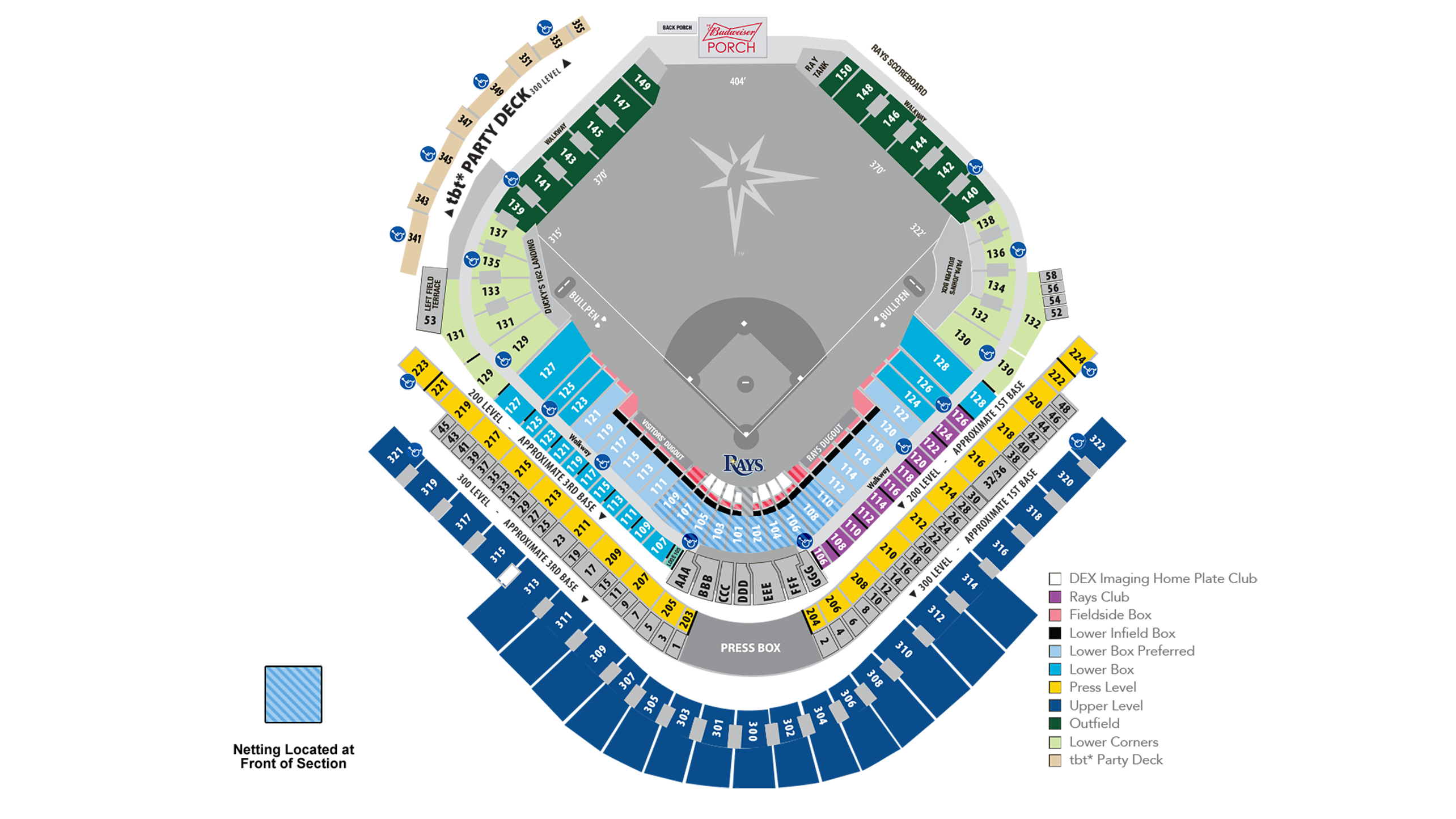 Rays Seating Map Tampa Bay Rays