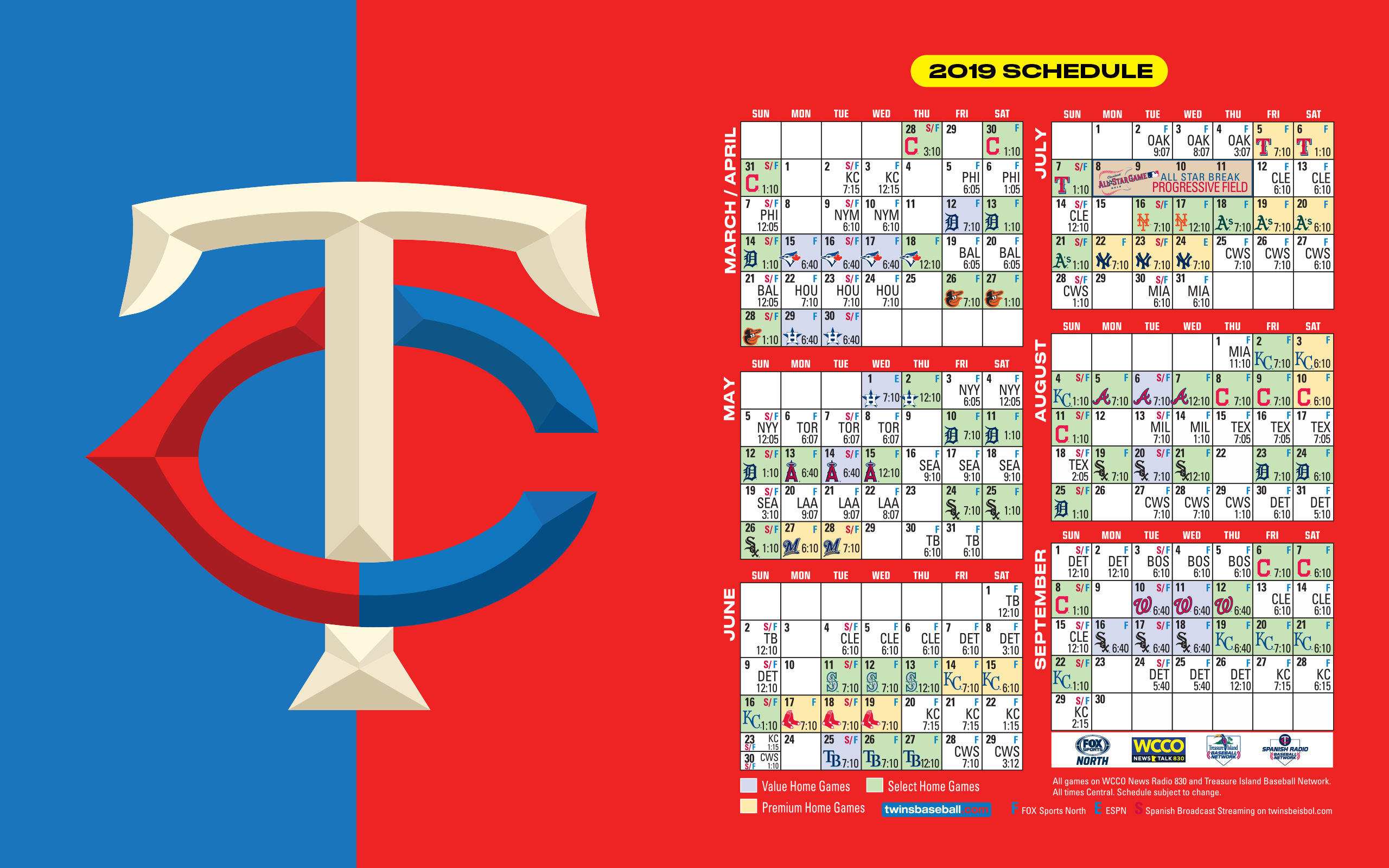 Dynamic image intended for mn twins printable schedule