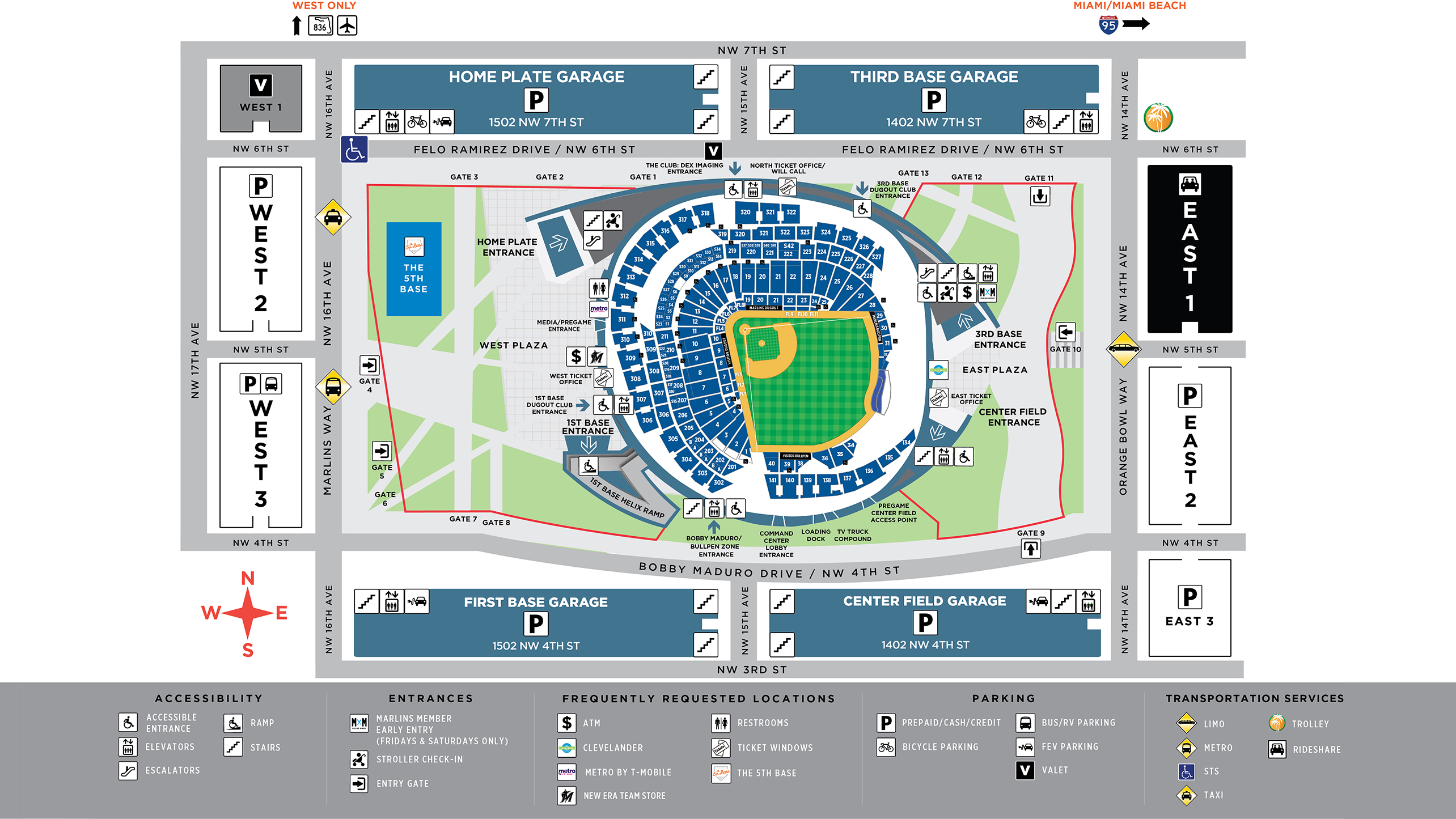 Transportation to Marlins Park | Miami Marlins