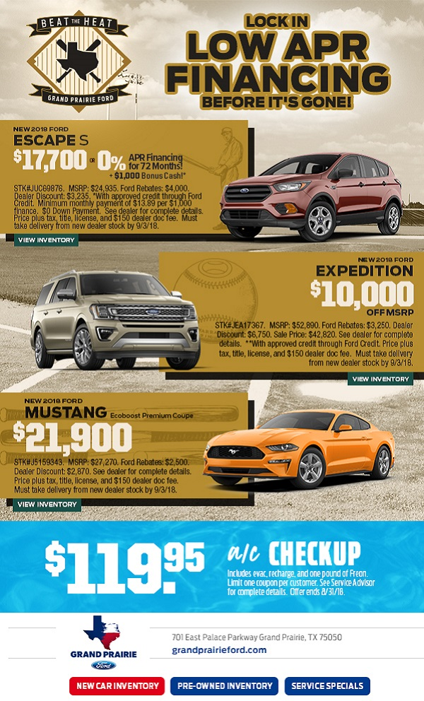 Huge Summer Savings At Grand Prairie Ford This Labor Day Say